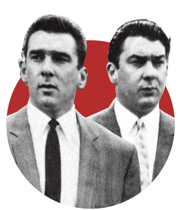 Headshot for the Kray Twins