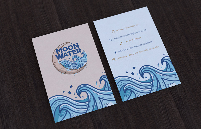 Portfolio - Moon Water Business Card