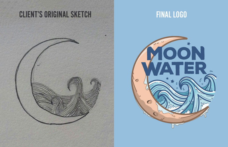 Portfolio - Moon Water Logo